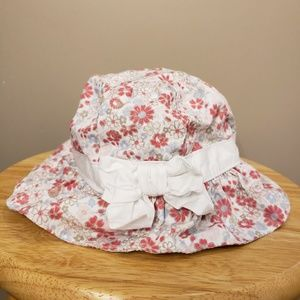 JANIE AND JACK PINK/WHITE FLOWERED HAT
